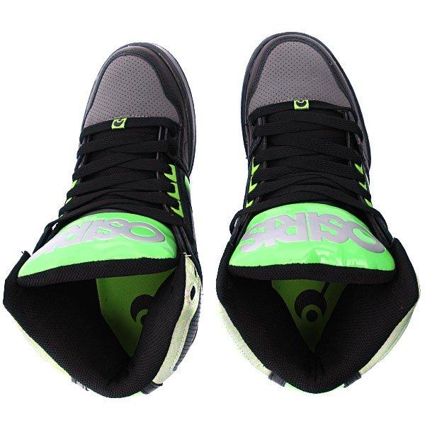 Кеды высокие Osiris Nyc 83 Black/Charcoal/Green