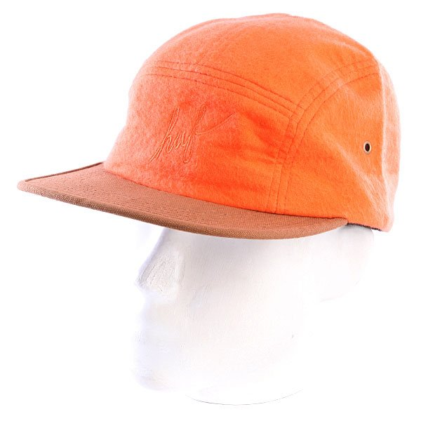 Бейсболка пятипанелька Huf Outback Script Volley Orange