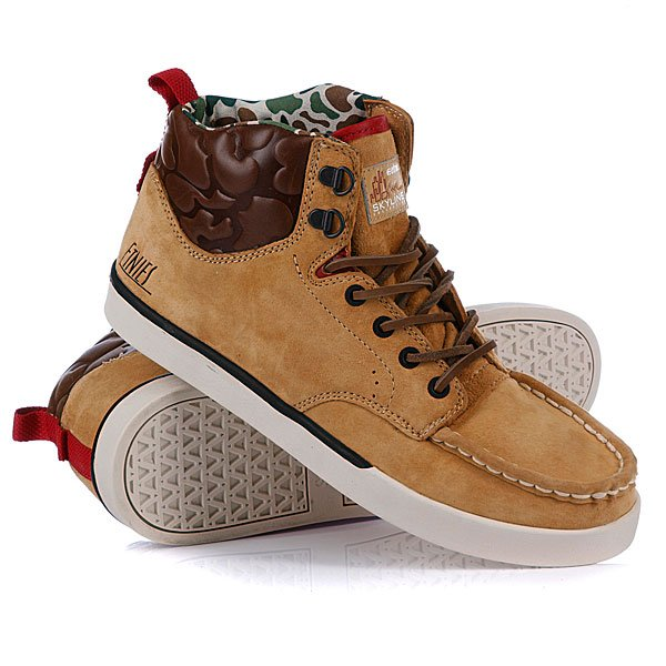 Кеды высокие Etnies Waysayer Tan/Brown