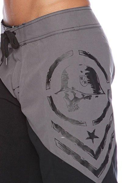 Пляжные мужские шорты Metal Mulisha Chevee Charcoal