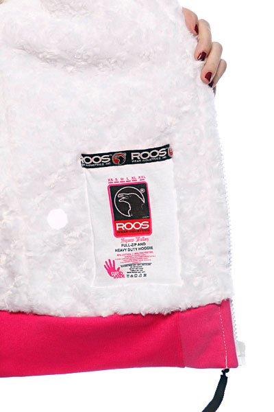 Толстовка утепленная женская Roos Squaw Valley Magenta/White