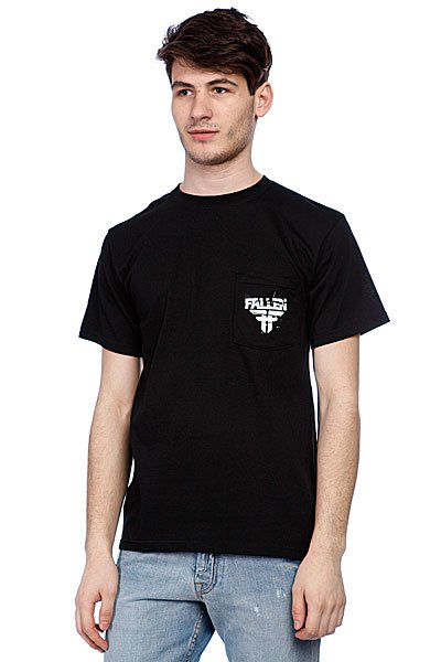 Футболка Fallen Feedback Pocket Tee Black/White Подарок