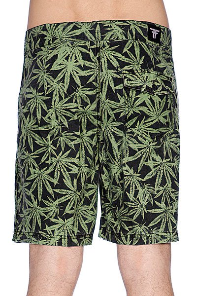 Пляжные мужские шорты Fallen Board Short Green Leaf