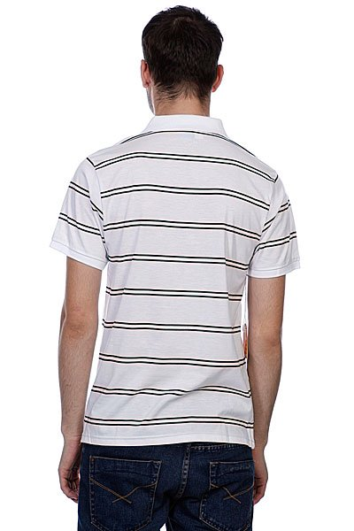 Поло Enjoi Pop Your Collar Striped White