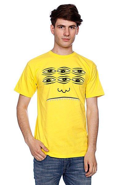 Футболка Toy Machine Trans Face Yellow