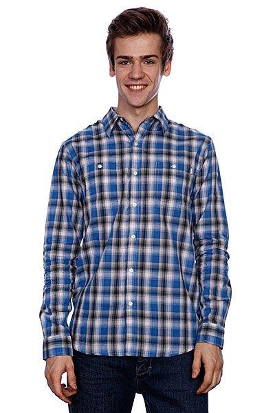 Рубашка в клетку Huf Poplin Shadow Plaid Woven Blue