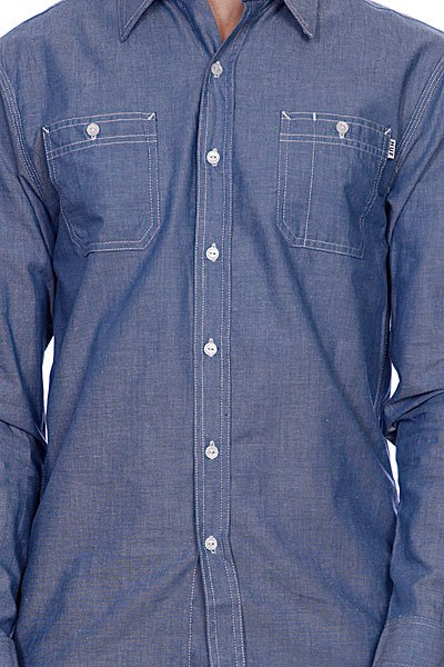 Рубашка Huf Chambray Work Shirt Blue