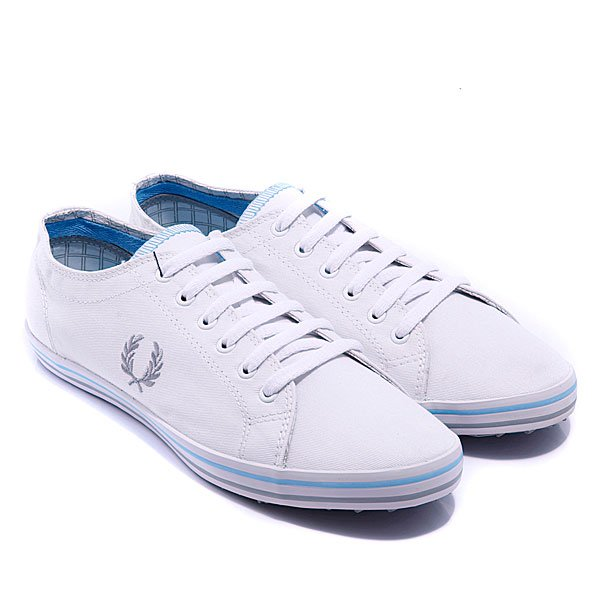 Кеды Fred Perry Kingston Twill Tipped White/Drizzle