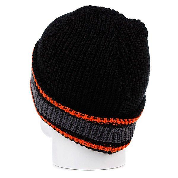 Шапка Slave Striped Black/Grey/Orange