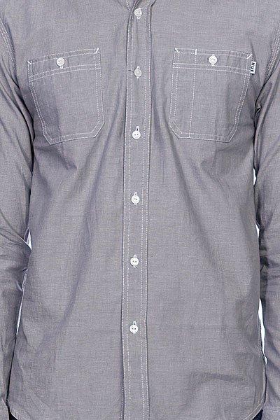 Рубашка Huf Chambray Work Shirt Grey