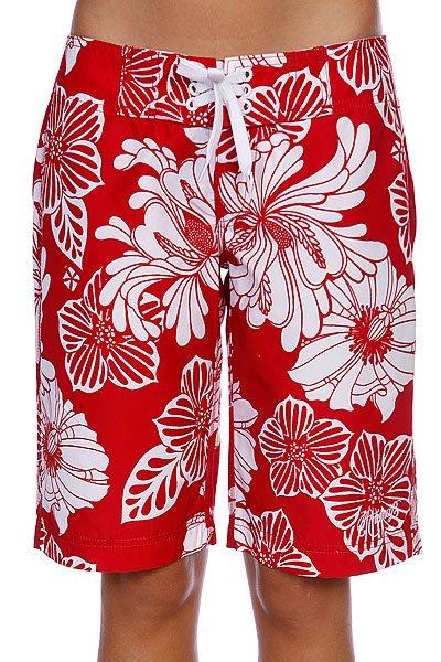 Шорты пляжные женские Animal Joyful Red/White