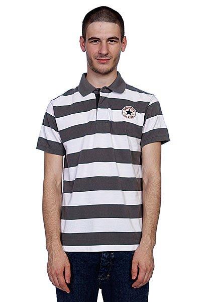 Поло Converse Polo Stripe Grey/White