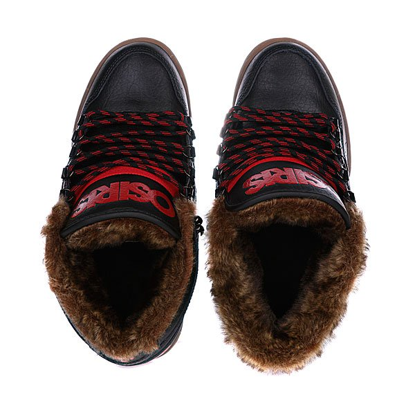 Кеды утепленные Osiris Nyc 83 Mid Shr Black/Red/Gum