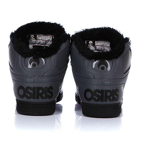 Кеды утепленные Osiris Nyc 83 Shr Charcoal/Black/Black