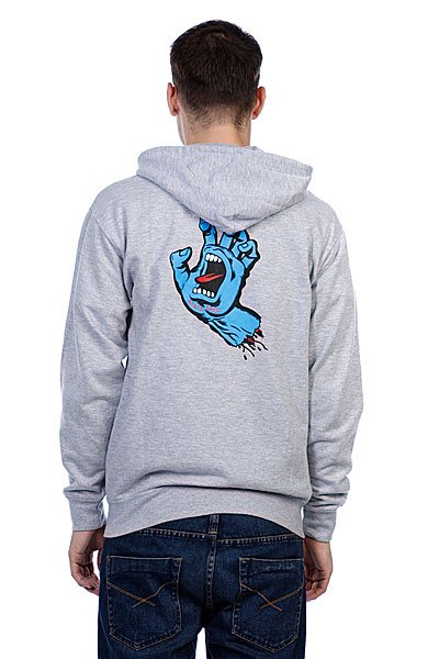 Толстовка Santa Cruz Screaming Hand Grey Heather