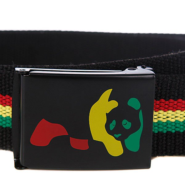 Ремень Enjoi Rasta Panda Web Black