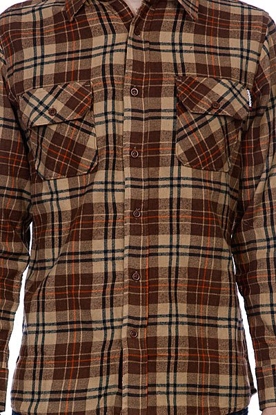 Рубашка в клетку Independent Control Button Up Brown/Orange