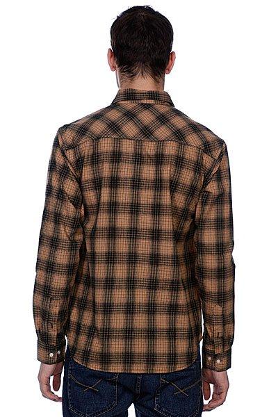 Рубашка в клетку Huf Fullerton Shadow Plaid Tobacco