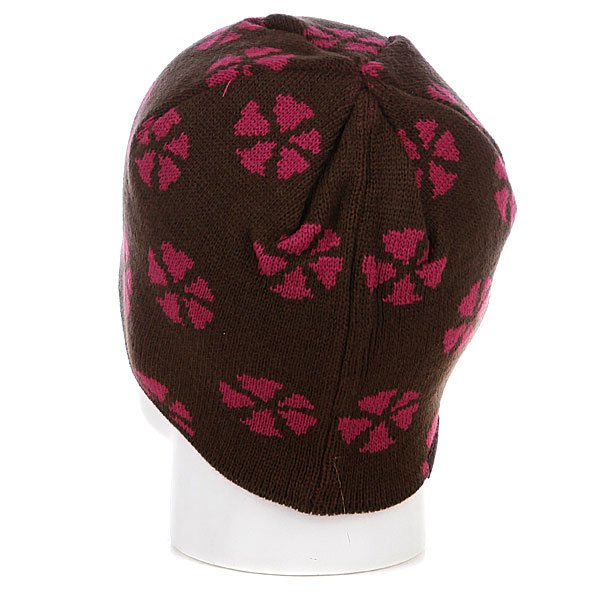 Шапка женская Animal Finch Print Beanie Slate Brown