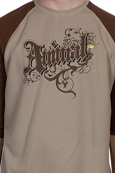 Футболка Animal Next 3/4 Sleeve Tee Taupe