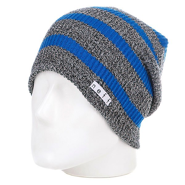 Шапка носок Neff Daily Stripe Grey/Blue