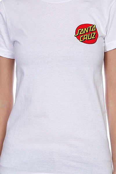 Футболка женская Santa Cruz Classic Dot white