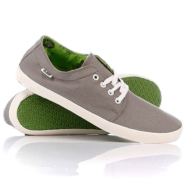 Кеды низкие Globe Red Belly Mid Grey/Lime
