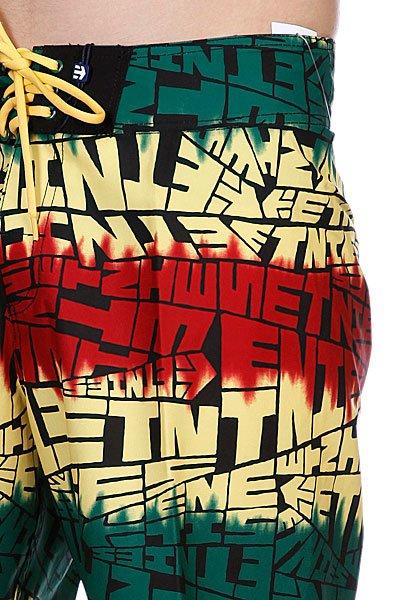 Пляжные мужские шорты Etnies Looser Boardie Black/Green/Gold