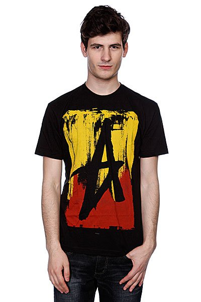 Футболка Altamont Smeared Tee Black/Red