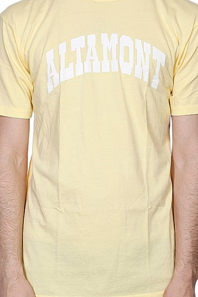 Футболка Altamont Smollege Tee Light Yellow