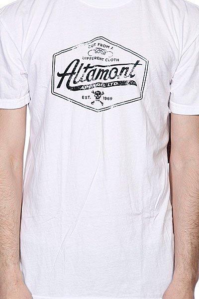 Футболка Altamont Cut Of Tee White