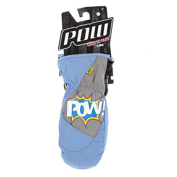 Варежки сноубордические детские Pow Grom Mitt Blue