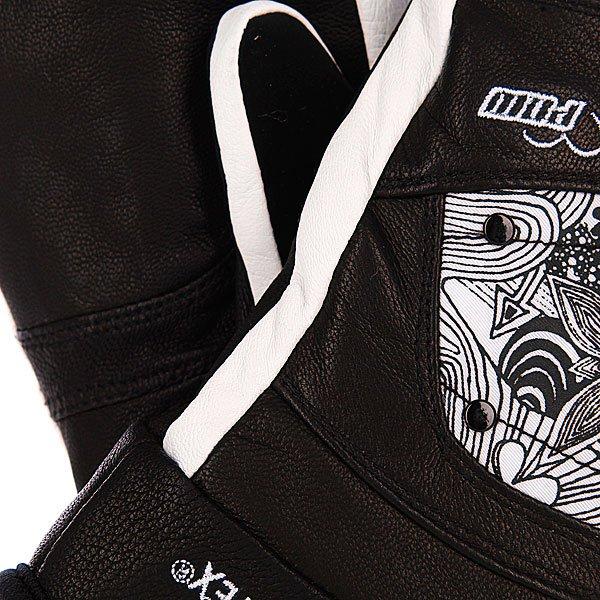 Варежки сноубордические женские Pow Feva Mitt Gtx Black