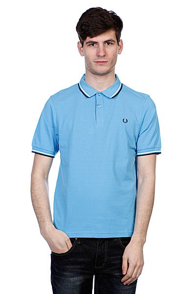 Поло Fred Perry Slim Fit Twin Tipped Shirt Soft Blue