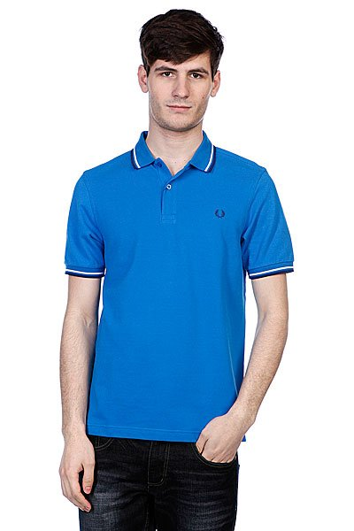 Поло Fred Perry Slim Fit Twin Tipped Shirt Atlantic