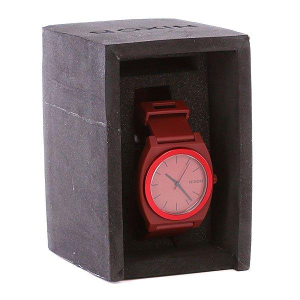 Часы Nixon The Time Teller P Dark Red Ano