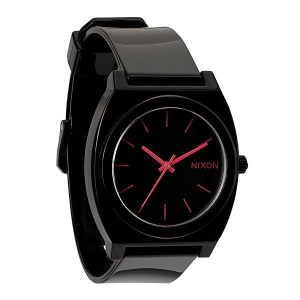 Часы Nixon The Time Teller P Black/Bright Pink