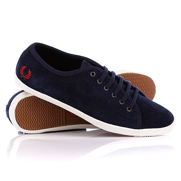Кеды кроссовки женские Fred Perry Phoenix Unlined Suede Carbon Blue