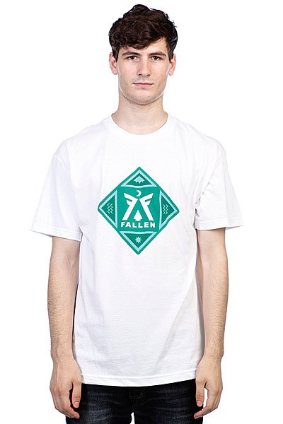Футболка Fallen Haven White/Emerald Green