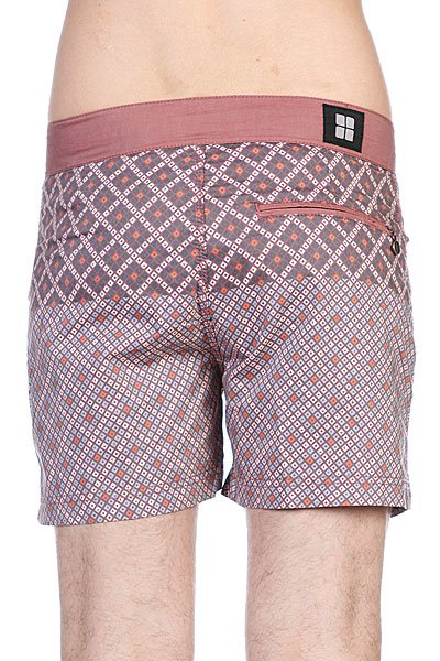Пляжные мужские шорты Insight Mosaic Bunker Brick