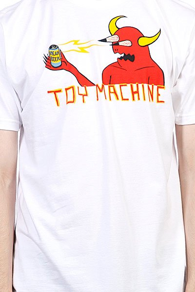 Футболка Toy Machine Monster Shock White