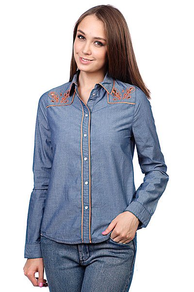 Рубашка женская Insight Napier Shirt 70'S Mid Blue