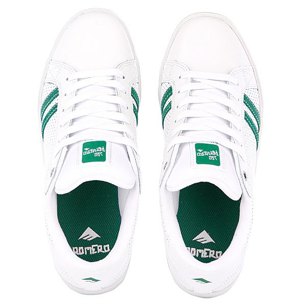 Кеды низкие Emerica The Leo White/Green