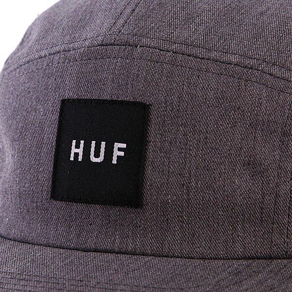 Бейсболка пятипанелька Huf Core Box Logo Volley Heather Gray