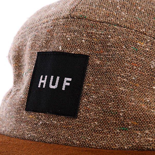 Бейсболка пятипанелька Huf Tweed Volley Taupe
