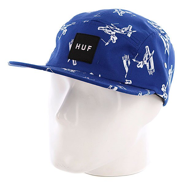 Бейсболка пятипанелька Huf Joyride Volley Blue