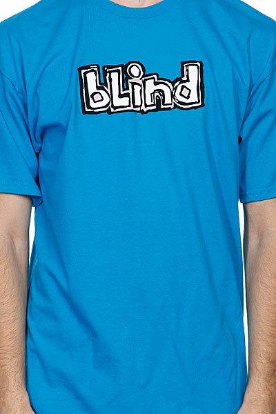 Футболка Blind Fluorescent Og Logo Turquoise