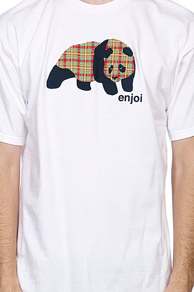 Футболка Enjoi Spectrum Plaid Panda White