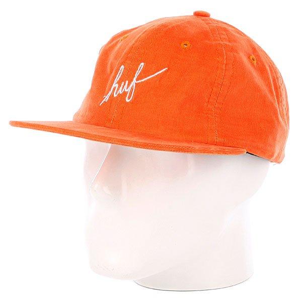 Бейсболка Huf Formless Script 6 Panel Orange