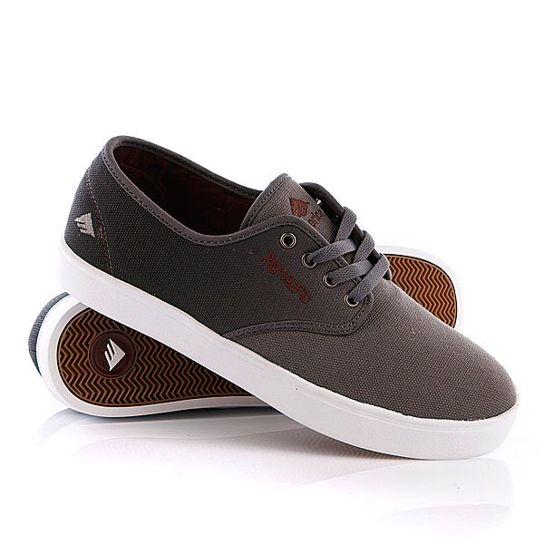 Кеды низкие Emerica Laced Black/Red/Grey